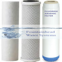 Sediment /Fluoride/Arsenic/Carbon Block Filters. Upgrade Or Refill Systems - $29.87