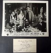 GARY COOPER (MEET JOHN DOE) ORIGINAL AUTOGRAPH (CLASSIC PIC & AUTOGRAPH)... - $296.01