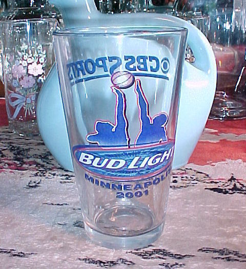 Budlight beer glass