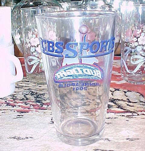 """BUD LIGHT MINNEAPOLIS 2001-CBS SPORTS-5¾"""" tall x3¼"""" rim x2¼"""" base;BASKE"""