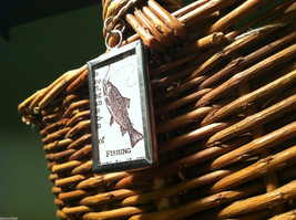"""2 sided """"Fishing"""" w/ definition charm in metal frame image 2"""