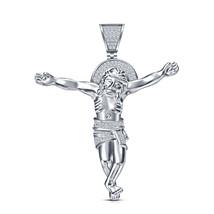 "925 Silver 14k Black Gold Finish Simulated Diamond Jesus Pendant With 18"" Chain - $90.00"