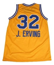J. Erving #32 Roosevelt High School Basketball Jersey New Sewn Yellow Any Size image 5