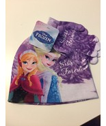 Disney Frozen Elsa Anna GIRLS Beanie Hat and Glove Set Sisters Purple - $14.84