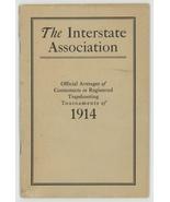Interstate Association Averages Trapshooting 1914 tournaments book sport... - $35.00