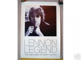 Beatles) Very Best of John Lennon Legend VG+ Big Promo Poster - $20.00