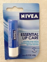 (4) NIVEA Essential Lip Care Long Lasting Moisturization 4.8g. Made in G... - $12.00