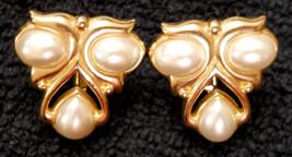 ✿ VTG JS Modern Abstract ALIEN Face Star Clip On Earrings Screw Back TUR... - $29.65