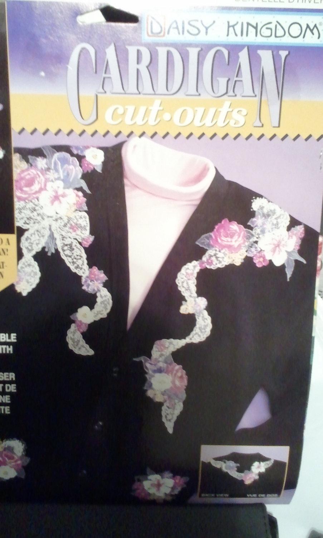 Daisy Kingdom Winter Lace 11504 Cardigan Cut Outs / Appliqué New