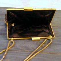 Vintage 1960's Walborg Beaded Purse Dark Brown Satin with Gold & Silver Seed Bea image 3