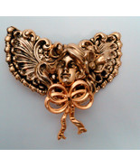 Art Nouveau Look Angel Brooch/Pin Hand Signed by Jane - $12.99