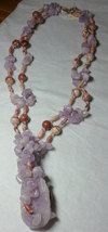 Amethyst Necklace, Double Strand about 24 1/2 inches long image 2