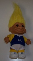 Troll russ yellow hair brown eyes in soccer uniform thumb200
