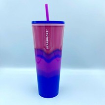 New Limited Edition Starbucks 2021 Summer Color Wave Trio Pink To Blue T... - $56.99