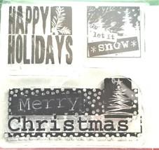 Inkadinkado Mini Happy Holidays Stamp Set #60-30021 image 2