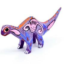 Handmade Alebrijes Oaxacan Wood Carved Folk Art Brontosaurus Dinosaur Figurine image 2
