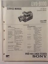 Sony original Service Manual for EVO-9100 Hi8 video camera recorder - $24.70