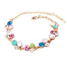Bracelet Rose Gold Hand Jewelry Amethyst Bracelet Jewelry Fashion Heart-shaped image 2