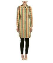 New Anne Klein Women's Plaid Trench Coat Orange/Tangerine Variety Sizes - $69.29+