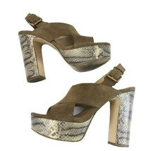 MICHAEL KORS Women's Sz 7 Snake Print Heels Platform Sandals Shoes - $42.08