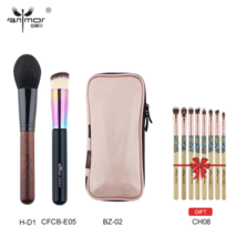 Anmor® Makeup Brushes Foundation Powder Brush Pink Bag Bamboo Eyeshadow Kit - $25.19
