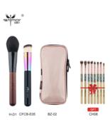 Anmor® Makeup Brushes Foundation Powder Brush Pink Bag Bamboo Eyeshadow Kit - $26.70