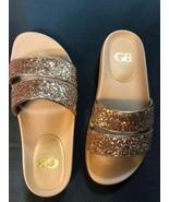 Gianni Bini Rose Gold Slide Size 8M Glitter Never Worn - $14.01