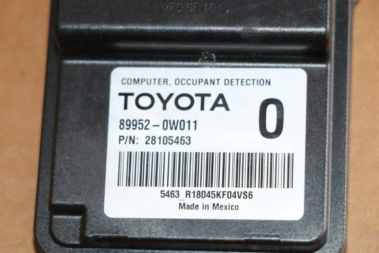 Lexus Toyota  Occuppant Detection Sensor Module Computer 89952-0w011