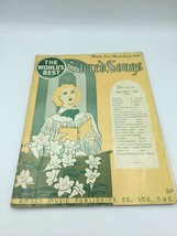 The World's Best Sacred Songs vintage 1916 christian music book - $15.88