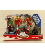 New Playskool Marvel Hero Adventures Captain America Iron man Black Panther - $38.34