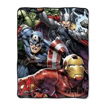 "Northwest The Avengers Teammates Silk Touch Throw Blanket, 40"" x 50"" - $32.12 CAD"
