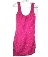 Sz 7-8 -  Zum Zum Pink Embroidered Sparkle Sleeveless Clubbin' Dress  - $28.49