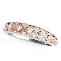 14k White And Rose Gold Infity Diamond Wedding Band (1/8 cttw) - $823.84