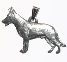 German Shepherd Pendant Dog Harris Fine Pewter Made in USA jewelry - $10.99