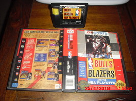 Bulls versus Blazers and The NBA Playoffs (sega genesis, 1993) - $6.92
