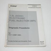 1991 Dodge Colt Eagle Summit 1.5L SOHC Electronic Fuel Injection Manual - $9.85