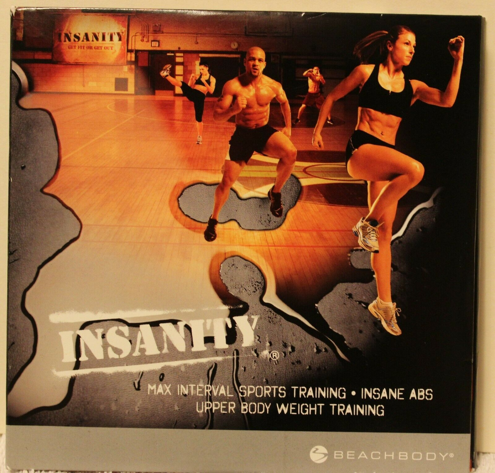 Insanity Max Interval Sports Training Insane Abs Upper Body weight train 3 DVDs image 2