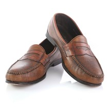 Cole Haan Brown Pebbled Leather Penny Loafers Slip On Comfort Shoes Mens 12 - $49.31