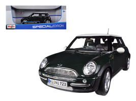 Mini Cooper With Sunroof Green 1/18 Diecast Model Car by Maisto - $65.99