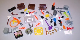 Used LEGO Minifig Accessories Tool Binocular Crate Container Hoop Radio ... - $9.50