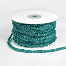 25 Yds - 5mm Turquoise Metallic Loosely Braided Cord Trim Sewing Crafts - $10.95