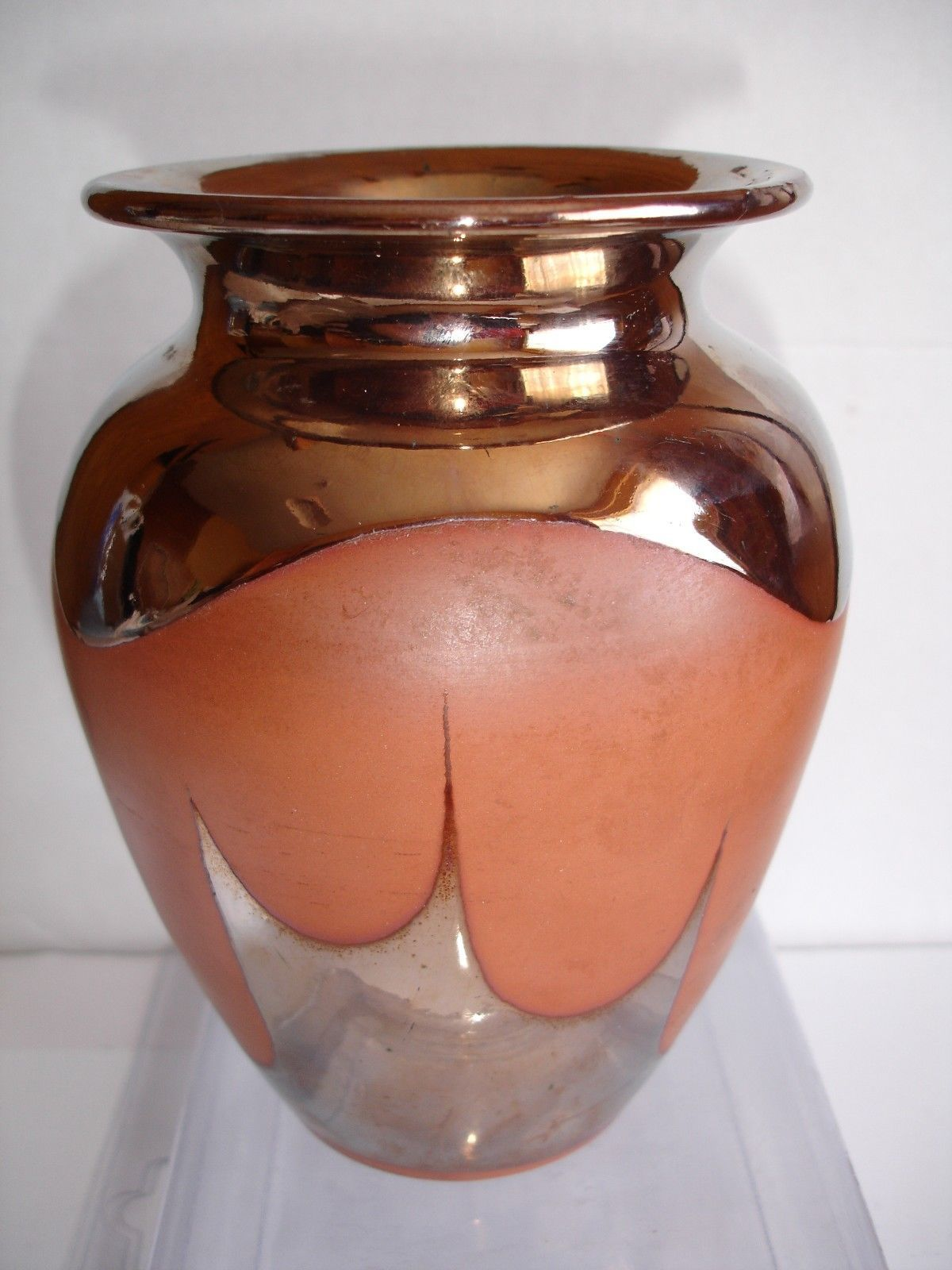Primary image for Terracotta and Gold Marked Vase 15cm