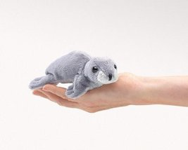 (Ship from USA) Mini Monk Seal Folkmanis 2757 Finger Puppet Imagination ... - $16.34