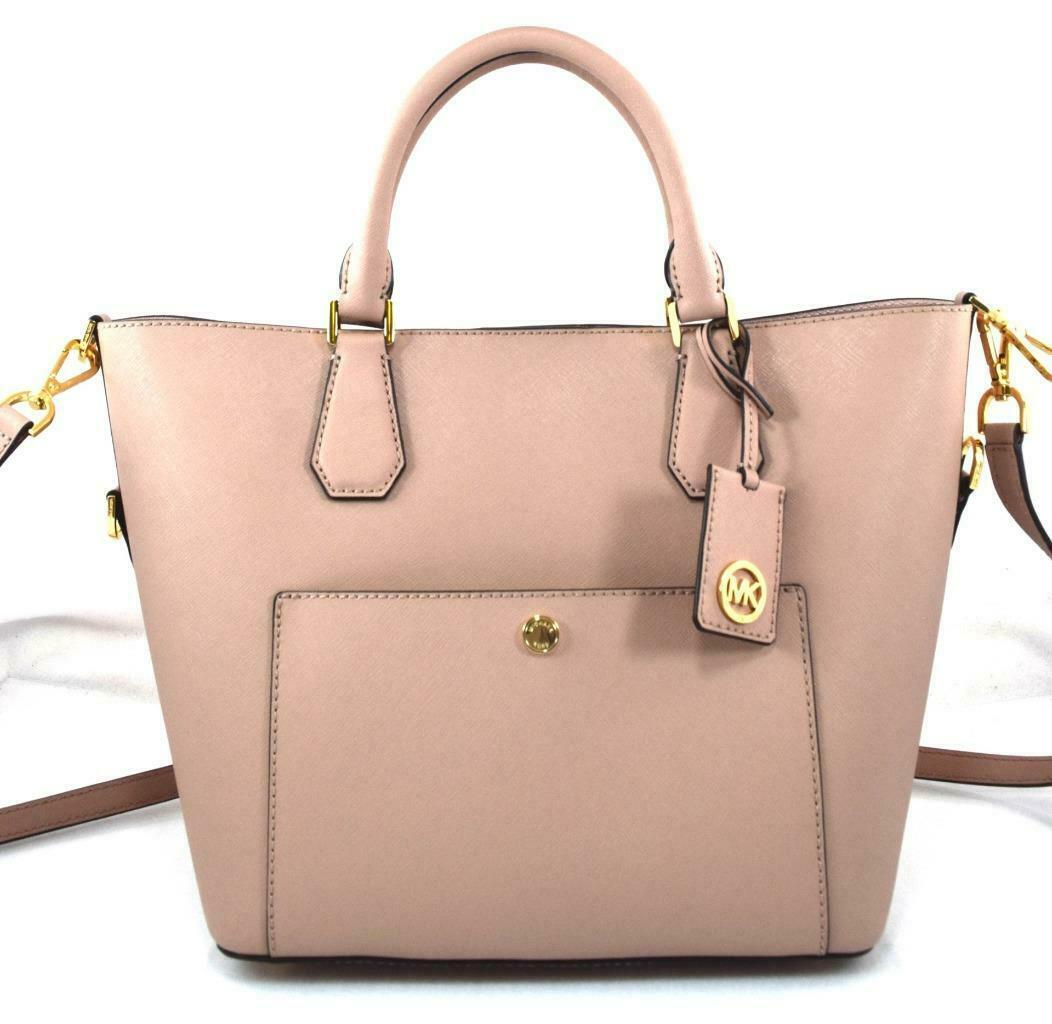 f43703d18862 AUTHENTIC NEW NWT MICHAEL KORS $358 LEATHER GREENWICH PINK FAWN TOTE  CROSSBODY - $148.00