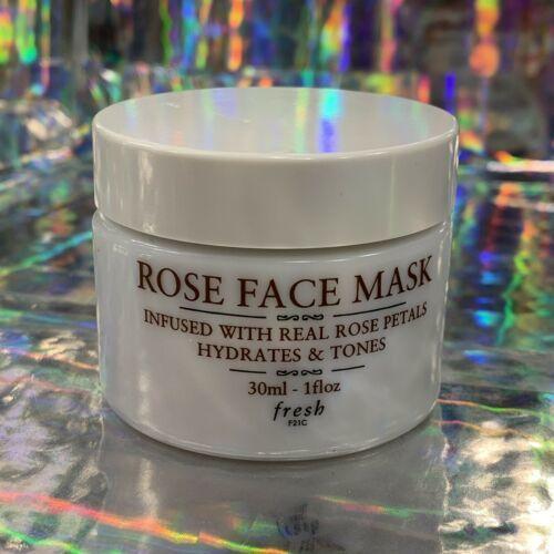 NWOB fresh Rose Face Mask *Hydrates & Tones W Real Rose Petals 1oz(30mL)