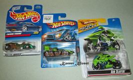 Lot of 3 Mattel Hot Wheels Cars - Treadator, Air Slayer & Twang Thang - NIP - $19.30