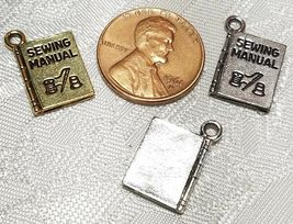 SEWING MANUAL FINE PEWTER PENDANT CHARM - 12x17x2mm image 3