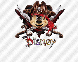 Mickey Mouse Pirate Disney World Iron On Transfer Instant Download You P... - $3.95