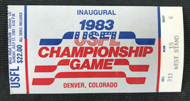 1983 USFL Championship Game Ticket Stub Denver, CO Inaugural Panthers Stars - $49.49