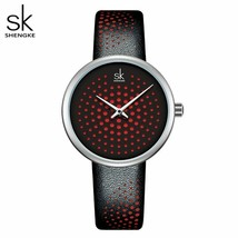 SK® Watches Leather Women Watches Vintage Plaid Quartz Watch Ladies Wris... - $24.29